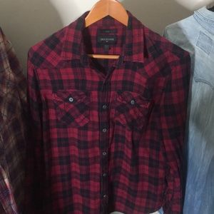 True Religion Collared Plaid Shirt